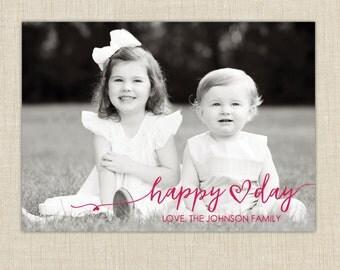 photo valentine card. Happy Valentine's Day