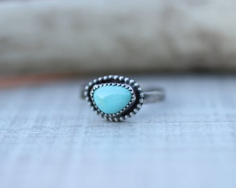 Pilot Mountian Turquoise Ring, Boho Jewelry, Southwest Jewelry