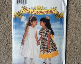 Girl's Special Occasion Dress Sewing Pattern, Flower Girl Dress, Church Dress, Butterick 4352 - Size 5, 6, 6X