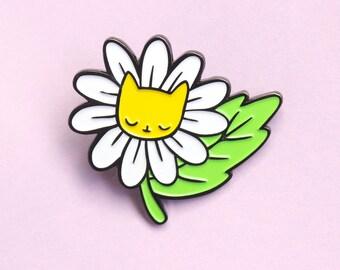 Daisy Kitty Pin Soft Enamel Pin