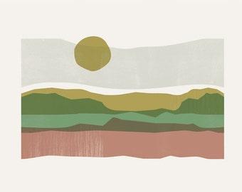 Textured Abstract Landscape Art Print