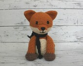 Rusty the Fox, Crochet Fox Stuffed Animal, Fox Amigurumi, Plush Animal, Made to Order