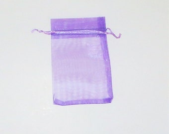 Purple 30 4 x 5 Organza Jewelry Gift Pouch Bags, bombaneers