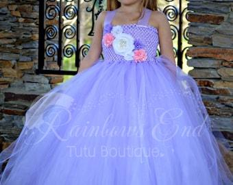 Lavender Dreams - Couture Flower Girl  Tutu Dress, Purple tutu dress, vintage flower girl dress, princess dress  SIZES 2t - girls 7