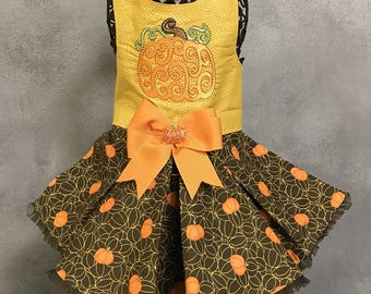 FALL:  Autumn Pumpkins Dog Dress