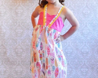 The Cheyenne Romper//Sizes 12Months-10//Matching Bow Included//Girls Romper