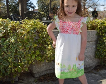 Fly a Kite Dress//Matching Bow Included//Sizes 2-10