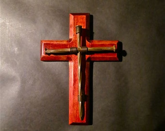 Christian Nail Cross Made By Healing Troubled Teen