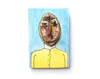 Wild Man, Original Abstarct Figure, Abstact Man Figure, 3D wall art