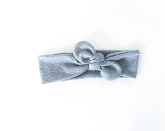 grey, gray, neutral, modern, girls accessories, baby headband, boho headband, tie up wrap, top knot - one size fits all
