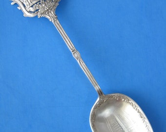 Sterling Silver Spoon 1905 Birmingham  England Coat Of Arms Souvenir Hand Engraved Town Hall 31 Grams