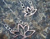 Blooming Lotus // Copper and Sterling Silver Necklace