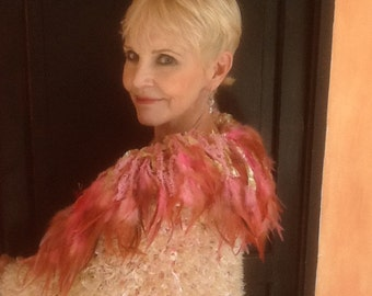Original Designed Feathered Shrug
