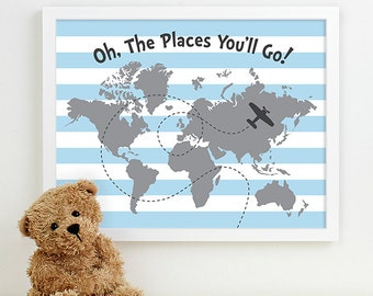baby boy nursery art print boy nursery decor, blue nursery, baby boy gift for boy baby shower gift for baby boy shower gift airplane nursery