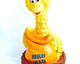 Vintage BIG BIRD Bank - Jim Henson Muppets Coin Bank - Sesame Street Collectible