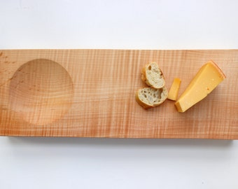 L Figured Maple Serving Tray