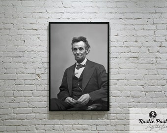 Abraham Lincoln Print, Wall Decor, Wall Art