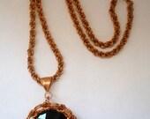 Japanese Flower Pendant Necklace