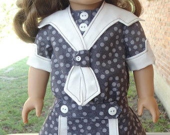 """18"""" Doll Clothes Early 1900's Historical Dress Fits American Girl Rebecca, Samantha"""