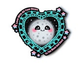 To The Moon And Back Sticker - Kawaii Stickers
