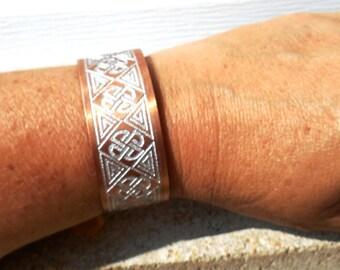 Celtic Bracelet, Etched Copper Bracelet, Celtic Cuff Bracelet, Copper Cuff, Copper Jewelry, Celtic Wedding, Unisex Gift, Jewelry Gift