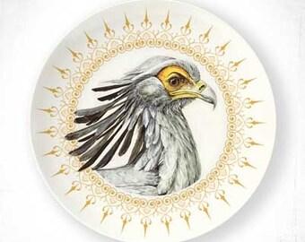 Secretary bird melamine plate