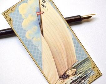 Bookmark - Victorian Boat - Handmade