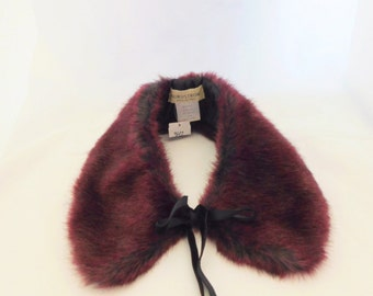 Nordstroms Faux Fur Collar, Made in Italy, Cotton Collar, Ladies Fur Collar, Lined Collar, Sewing
