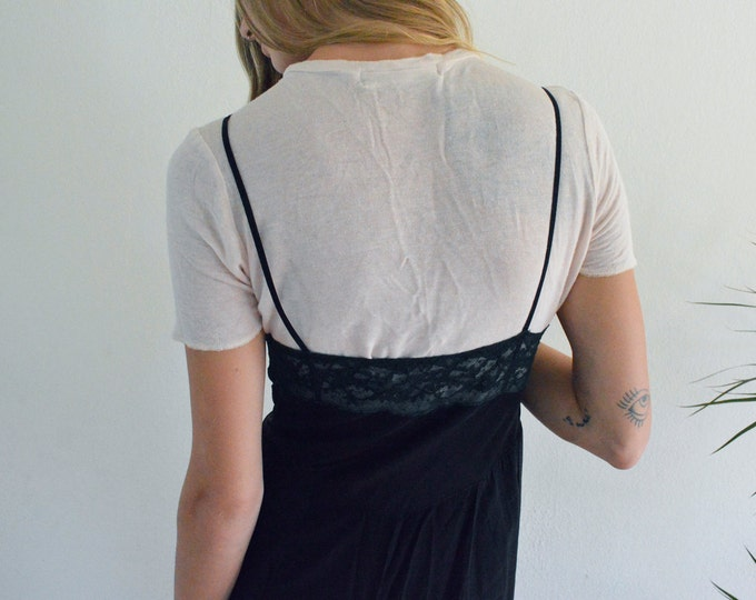 SALE 50% OFF Black Slip Dress