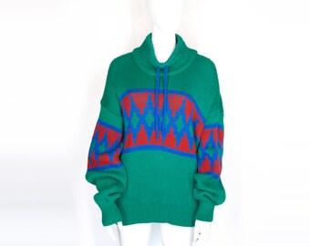 80s Geometric Knit Sweater