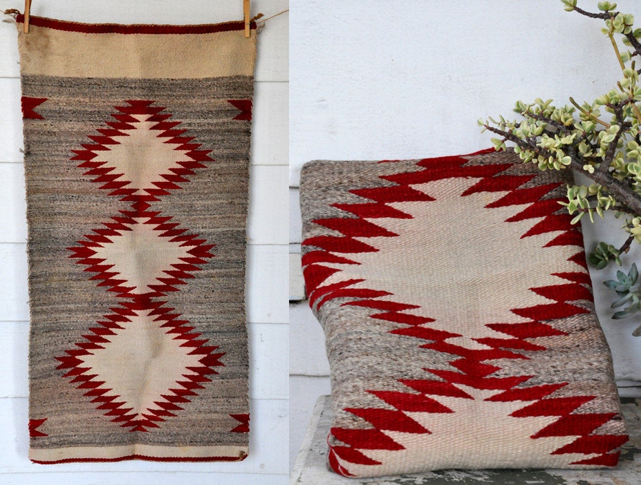 RESERVED WOOL Rug Wall Hanging NAVAJO Southwestern Handwoven