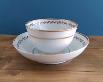 Antique Tea Bowl and Saucer c1795