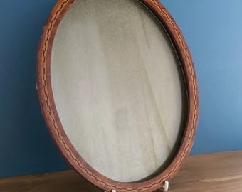 Antique French Oval Inlaid Picture / Photo Frame