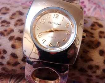 Persona Gold Plated Ladies Cuff Watch    Thanks Cindy