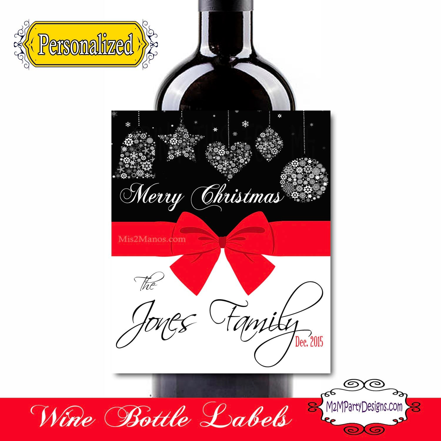 how to make personalized wine labels