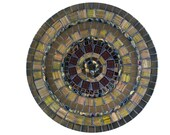 Coffee Table Decor, Glass Mosaic Bowl in Brown, Gifts under 50