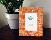 Orange Mosaic Picture Frame / 4 x 6 or 5 x 7 / Colorful Photo Frame / Gift Idea