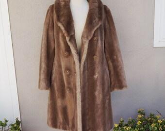 Vintage Fur Coat, Long Fur Coat, Brown Fur Coat, Long Brown Coat, Glamorous Warm Winter Coat, Mink Fur Coat