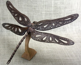 Dragonfly Wood Carving Hand Carved By Mike Berlin, Woodcarving, Wildlifeart