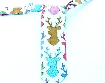 Boys Elk Head Necktie, Deer Neck Tie for Boys, Toddler Boys Necktie, Toddler Boys, Birthday Cake Smash, Photo Prop, Deer Bow Tie