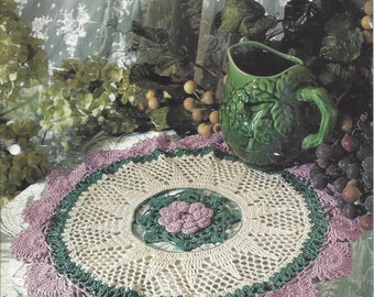 Crochet Doily Pattern Chrysanthemum Beauty  - House White Birches Collectible Doily Series - Doilies, Lace Crochet, Home Decor, Table Topper