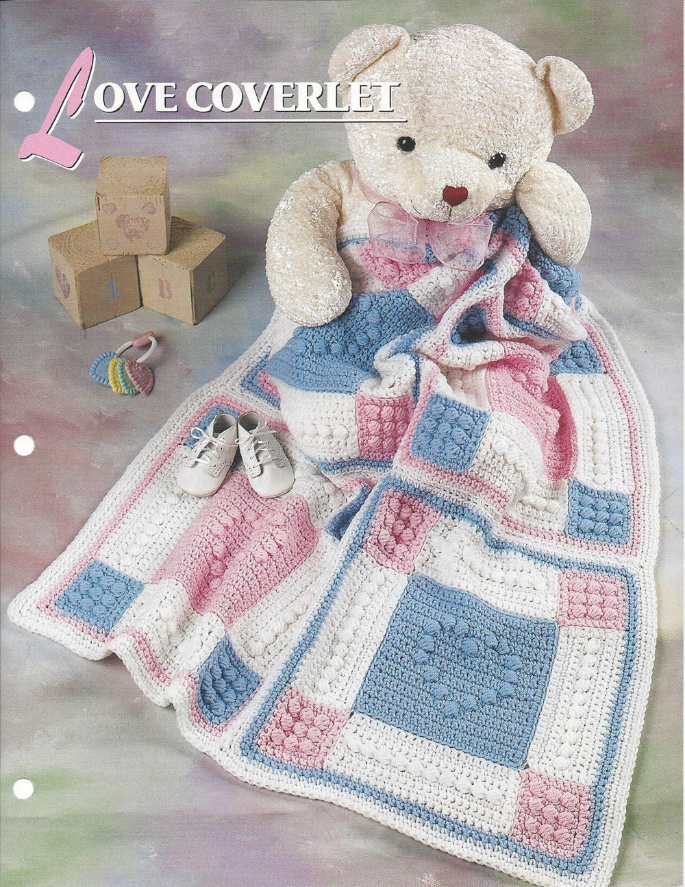 Crochet Afghan Patterns Quilt : Love Coverlet Afghan Baby Pattern Annies Crochet Quilt