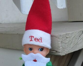 Personalized Elf Hat, Elf Beard, Elf Mustache, Elf Accessories, Christmas Elf, Santa Costume, Elf Beard, Personalized Elf Hat, Elf Clothing