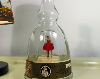 Vintage Collectibles, Bols Ballerina, Gold Liqueur Bottle, Dancing Music Box,  Wedding Gift, Bols Ballerina Musical Box Les Flots du Danube