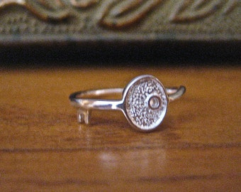 SALE 925 Sterling Silver Key Stacking Ring