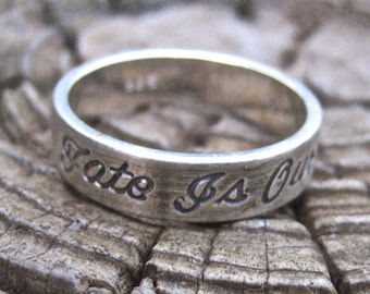 SALE Vintage 925 Sterling Silver Our Fate Is Our Destiny Ring