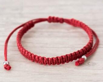 Red string bracelet Protection bracelet Good luck bracelet Friendship bracelet Yoga bracelet Kabbalah bracelet Red bracelet Macrame bracelet
