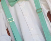 David's Bridal Spa Bowtie and Suspender Set, Little Boy Spa Bowtie, David's Bridal Spa ringbear outfit, Spa suspender David's Bridal Spa Tie