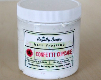 Confetti Cupcake Bath Frosting   8 oz    Whipped Soap   Cream Soap   Royalty Soaps