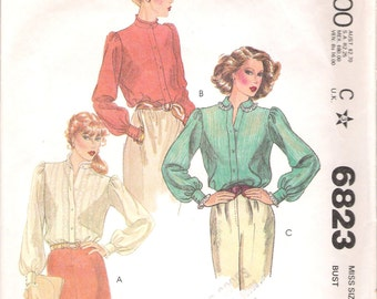 "Vintage 1979 McCall's 6823 Misses' Blouses Sewing Pattern size 14 Bust 36"" UNCUT"